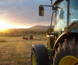 tractor and country image