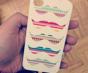 iphone, case, and moustache image