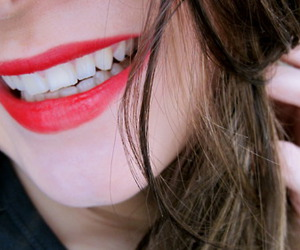 lips, smile, and red image