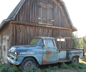 barn, country, and truck image