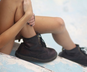 boots, legs, and dr martens image
