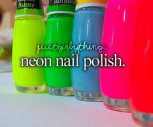 neon, nails, and nail polish image