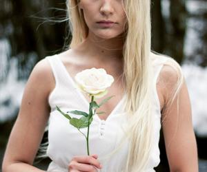 beautiful, blonde, and flower image