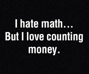 money, math, and quotes image