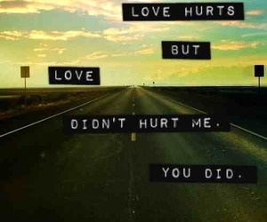 love and hurt image