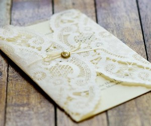 lace and invitation image