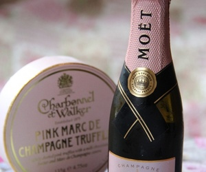 champagne, food, and pink image