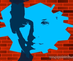 art, girl, and popart image
