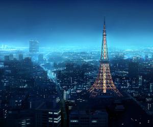 night, paris, and light image