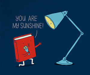 book, sunshine, and funny image