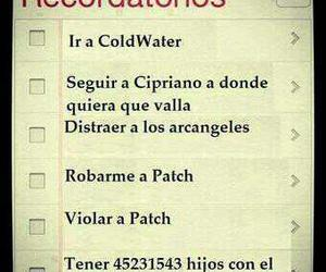patch, patch cipriano, and hush hush image