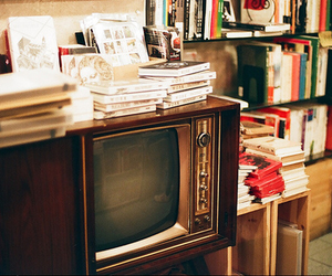 book, vintage, and tv image