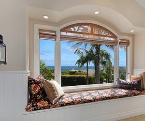 summer, beach, and window image