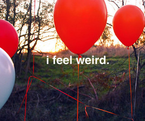 balloons, weird, and red image