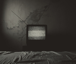 tv, black and white, and television image