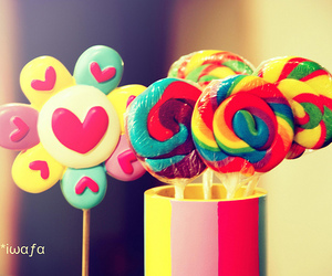 candy, sweet, and lollipop image