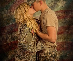 army, kiss, and love image