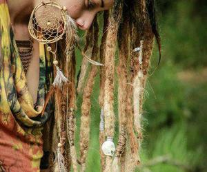 bohemian, dreads, and girl image