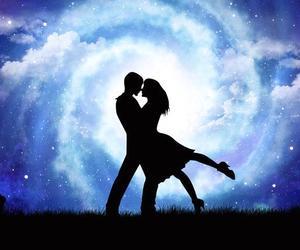 night, love, and beautiful image