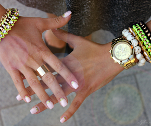 arm candy, manicure, and skull image