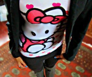 fashion, hello kitty, and outfit image