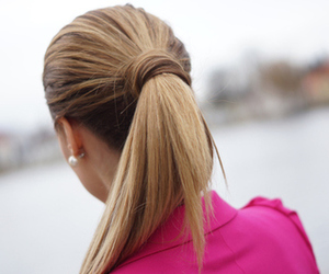 hair, girl, and pony tail image