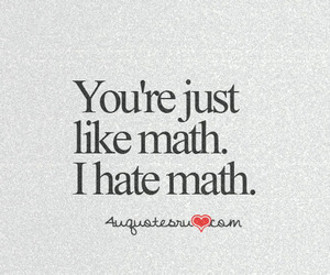 quote, math, and hate image