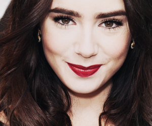 lily collins, girl, and actress image