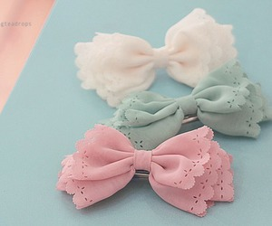 bow, pink, and white image