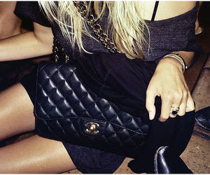 chanel, bag, and blonde image