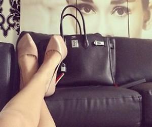 shoes, heels, and audrey hepburn image