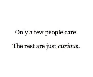 quote, care, and curious image