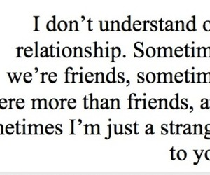 Relationship, strangers, and friends image