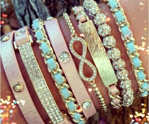 bracelet, infinity, and pink image