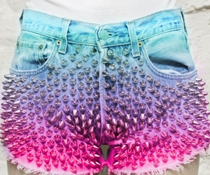 shorts, blue, and spikes image