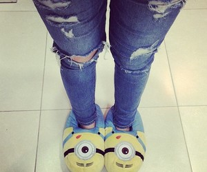 slippers, jeans, and photo image