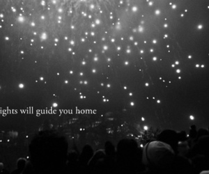 lights, coldplay, and home image
