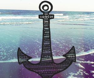 anchor, beach, and draw image