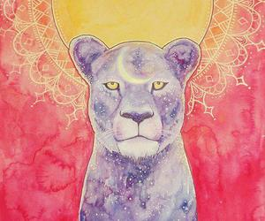 sun, lion, and pink image