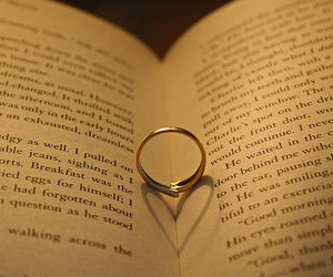book, ring, and twilight image