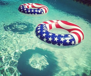 summer, pool, and usa image