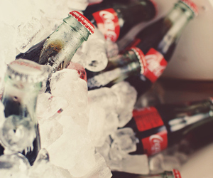 coca cola, ice, and drink image
