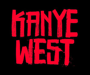 kanye west and red image