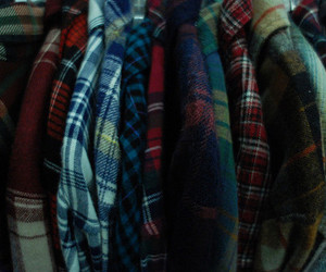 checkered, clothing, and plaid image