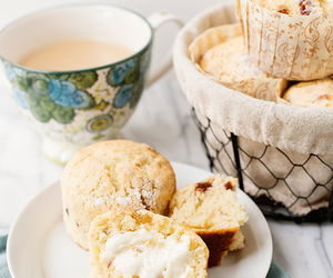 bread, muffins, and christmas image