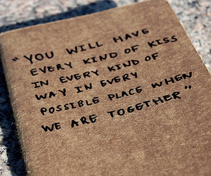 kiss, love, and quote image