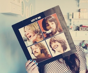 let it be, the beatles, and girl image