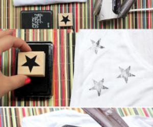 diy, stars, and t-shirt image