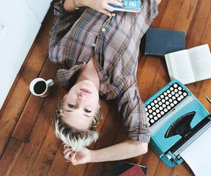 coffe, floor, and girl image