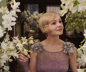 Carey Mulligan, the great gatsby, and flowers image